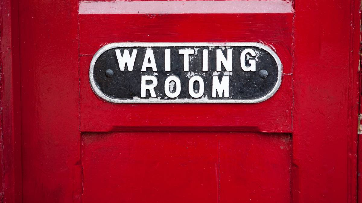 Preparing for a COVID vaccination? Mind the packed waiting room. Photo: file
