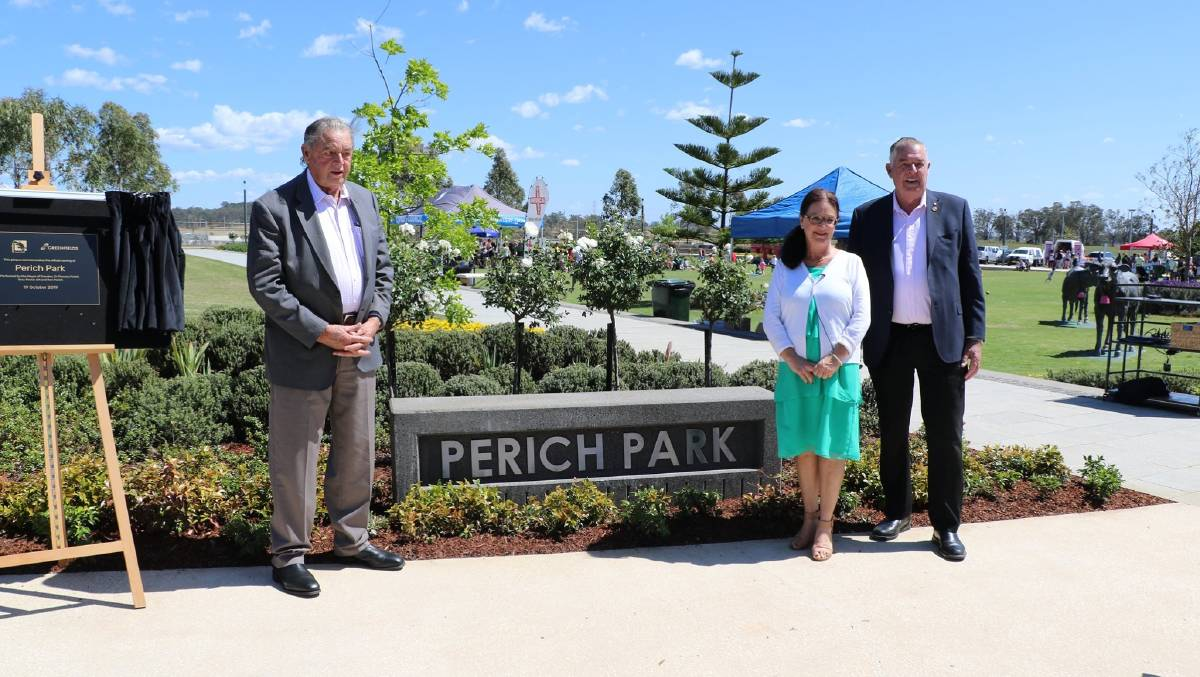 Now open: Formerly known as Town Park, Perich Park is a tribute to the late Kolombo and Julia Perich, who had dairy farms in the region.