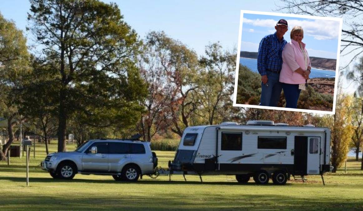 Adventurers: Michael and Carole Wheeler regularly take their rig out and around the country. They believe Camden could be the perfect caravan pit stop.